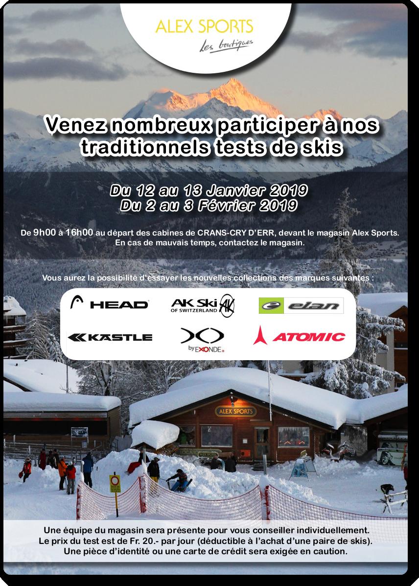 3871966c9530 Alex Sports Les boutiques - Test de skis
